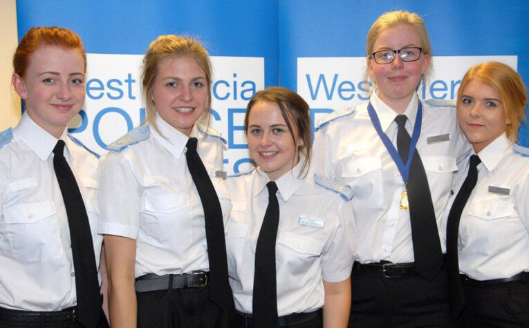 Group of police cadets at the awards